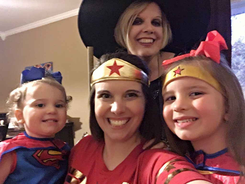 Halloween with nieces and sister