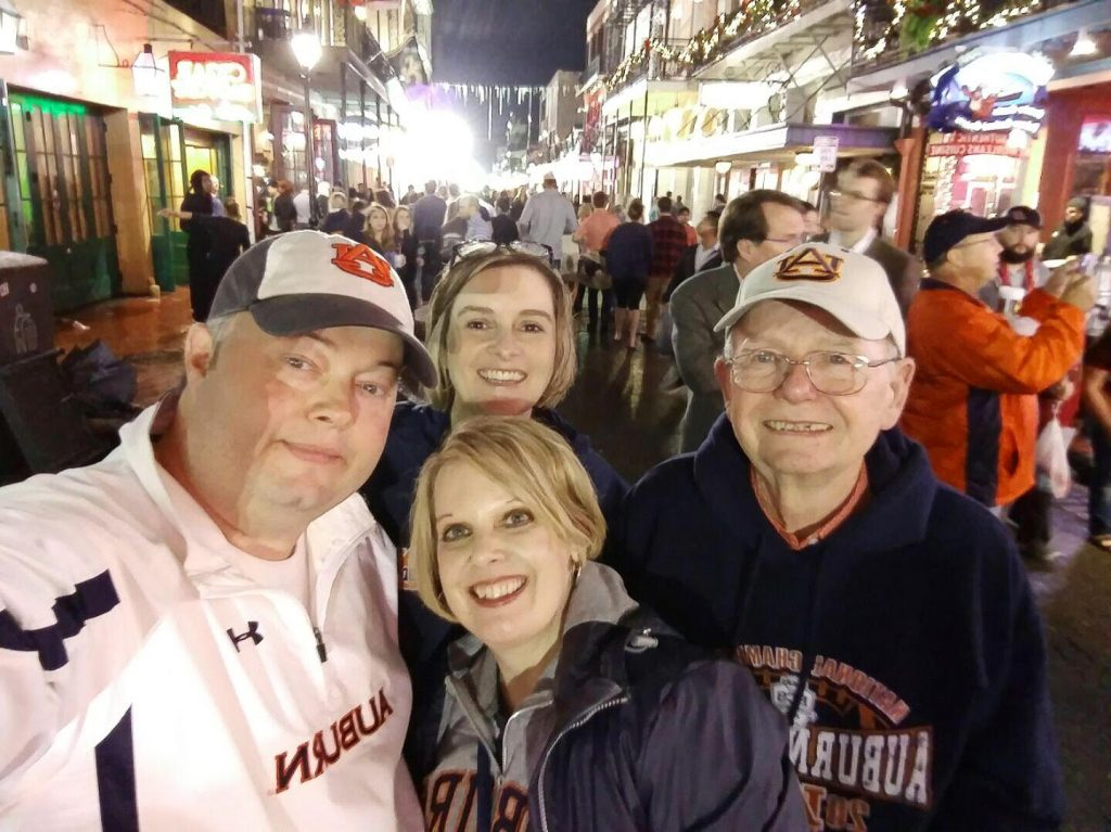 Friends in New Orleans at the Sugar Bowl