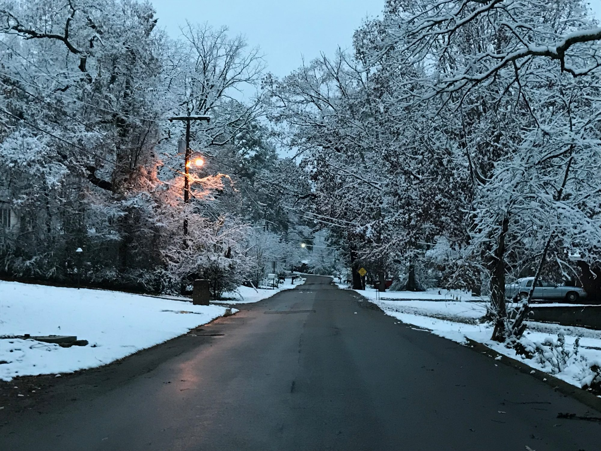 Alabama's beautiful snow in early December