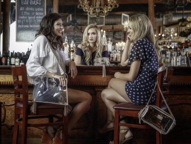 Two Alabama women add their signature style to clear bag stadium policy