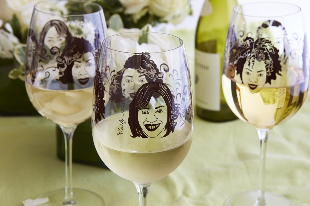 Inspired Southerner  Curly Contessa wine glasses