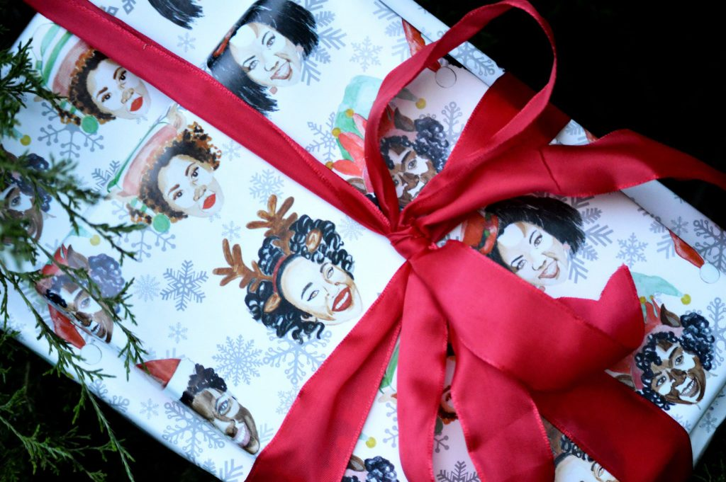 Inspired Southerner Curly Contessa wrapping paper